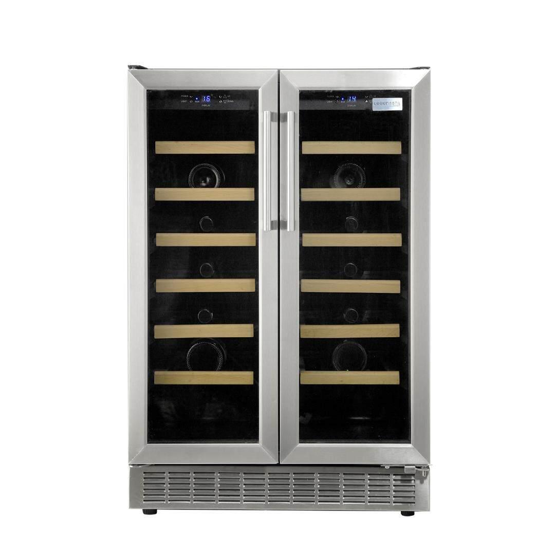 Lebensstil Kollektion Sbs Wine Chiller Lkwc-4201ss (twin Door - 42 Bottles) By Lebensstil Kollektion