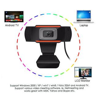 Webcam KEBETEME HD, Camera USB 480P 720P Camera Web Quay Video Xoay Được Kèm Micro, Dành Cho Máy Tính PC 3