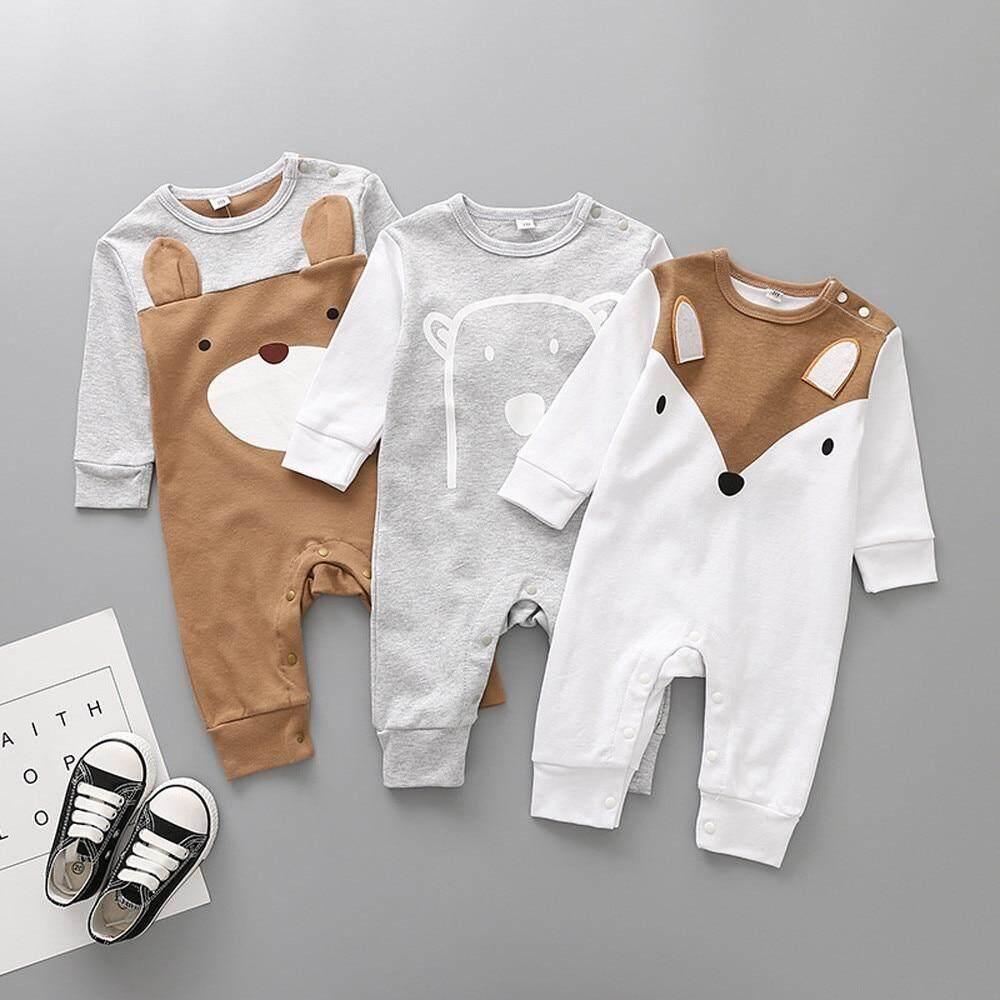 2b67baffa Bebé recién nacido bebé niño de dibujos animados de animales mono de  algodón de moda de