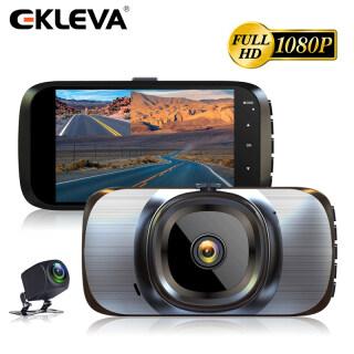 EKLEVA Camera Hành Trình Màn Hình IPS 4 Inch Car DVR Máy Ảnh Máy Quay Video Full HD 1080P Registrator Tự Động Bảng Điều Khiển, Kép Dashcam Đen DVR Hộp thumbnail
