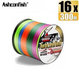 Ashconfish Dây Câu Cá Bện Rỗng 300M 16 Sợi Dây Nhựa PE Cắt X16 Siêu Mạnh 20-500LB Nhiều Màu thumbnail