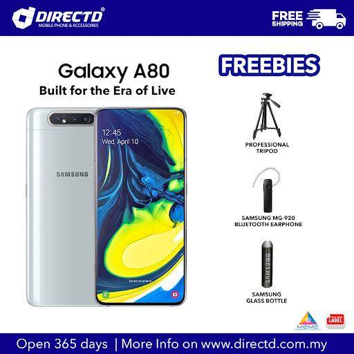 SAMSUNG Galaxy A80 (8GB RAM + 128GB ROM) 3700mAh Battery With Motorized Pop-Up Rotating Main Camera Module, Original 1 Year Warranty By SAMSUNG Malaysia!! Special Free Gift Exclusively On Directd!!