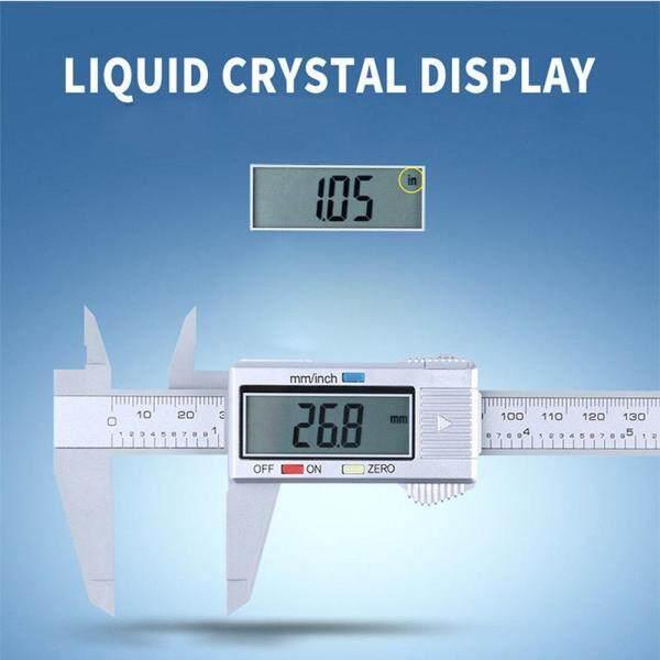 Toolstar 150mm/6inch LCD Digital Electronic Carbon Fiber Vernier Caliper Gauge Micrometer