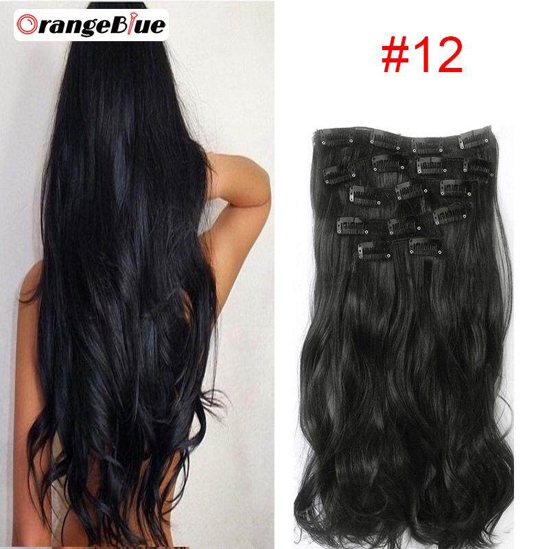 OBlue Fashion Sexy Women Wig Clip In Hair Extension Long Straight Big Curly  False Hairs 1ccf1f53e7