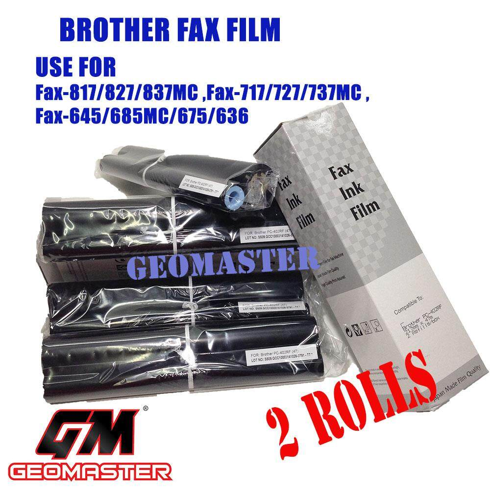 2 Rolls Brother Pc402rf / 402rf Compatible Fax Ink Film For Brother Fax-636 Fax-645 Fax-675 Fax-717 Fax-727 Fax-827mc Fax-878 Machine By Geo Multi Media.