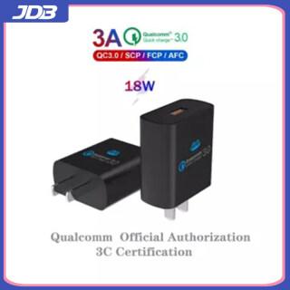 [Sạc Nhanh 18W] Sạc USB QC3.0 Sạc Nhanh JDB Dành Cho Android, Sạc Nhanh Dành Cho Samsung iPhone Xiaomi, Redmi, Huawei Và Hơn Thế Nữa thumbnail