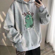 Áo hoodie unisex nam nữ chất nỉ thoáng mát dáng oversize trẻ trung in hình hoạt hình đáng yêu SK Men