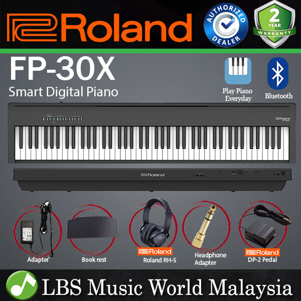 Roland FP-30X 88 Key Digital Piano Portable Package Electric Weighted Keyboard - Black (FP30X FP30 X FP 30X) Malaysia