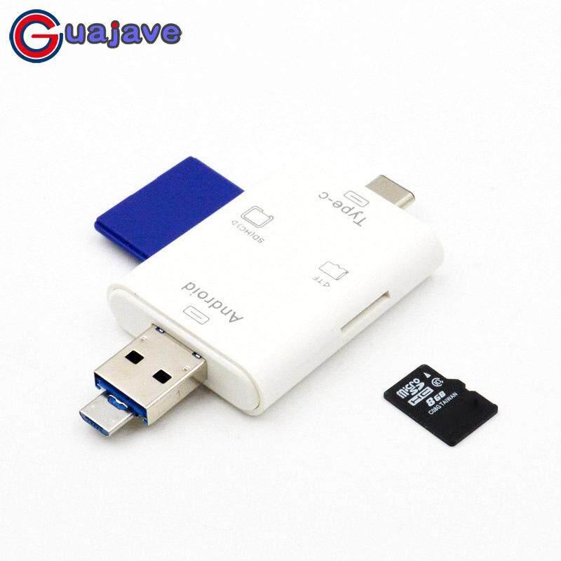 Guajave Di Động 3 trong 1 Đầu Đọc Thẻ Nhớ OTG Nhà Văn Adapter Mini Đầu Đọc Thẻ cho Smartphone Máy Tính Bảng máy tính xách tay