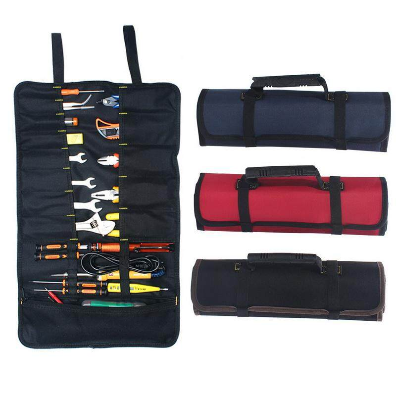 [Professional Tool]Multifunction Waterproof And Wear Resistant Tool Bags Practical Carrying Handles Oxford Canvas Roll Bags(22 Tool Bags And One Zipper Bag)