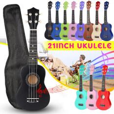 Đàn Ukulele Nhạc Cụ Gỗ Trầm 4 Dây 21 Inch, 12 Phím Đàn Guitar + Túi Biểu Diễn + Bộ Chỉnh Âm
