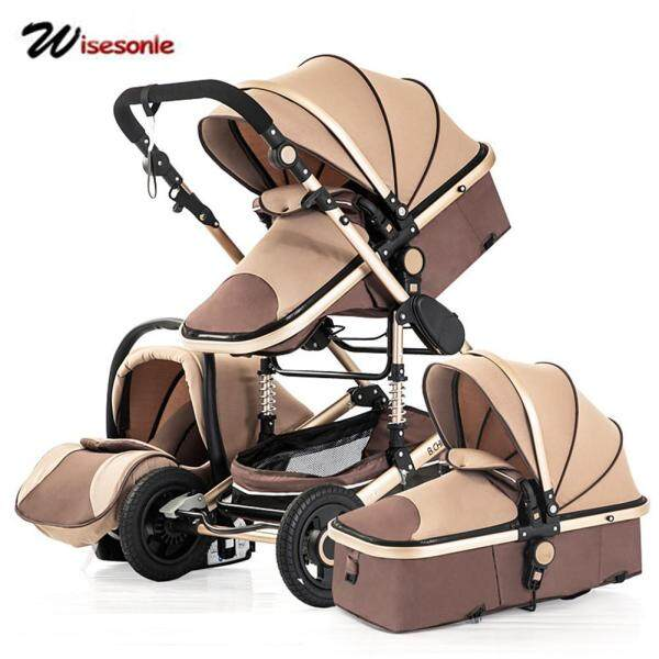 Baby Stroller 3 in 1 Multi-Function 4 Round Shockproof Foldable Neonatal Trolley Baby Joggers Singapore