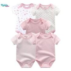 Kiddiezoom Set 5 Bộ Jumsuit Áo Liền Quần Trẻ Em Chất Vải Cotton Mềm Mại Thoáng Mát Thân Thiện Với Làn Da Trẻ