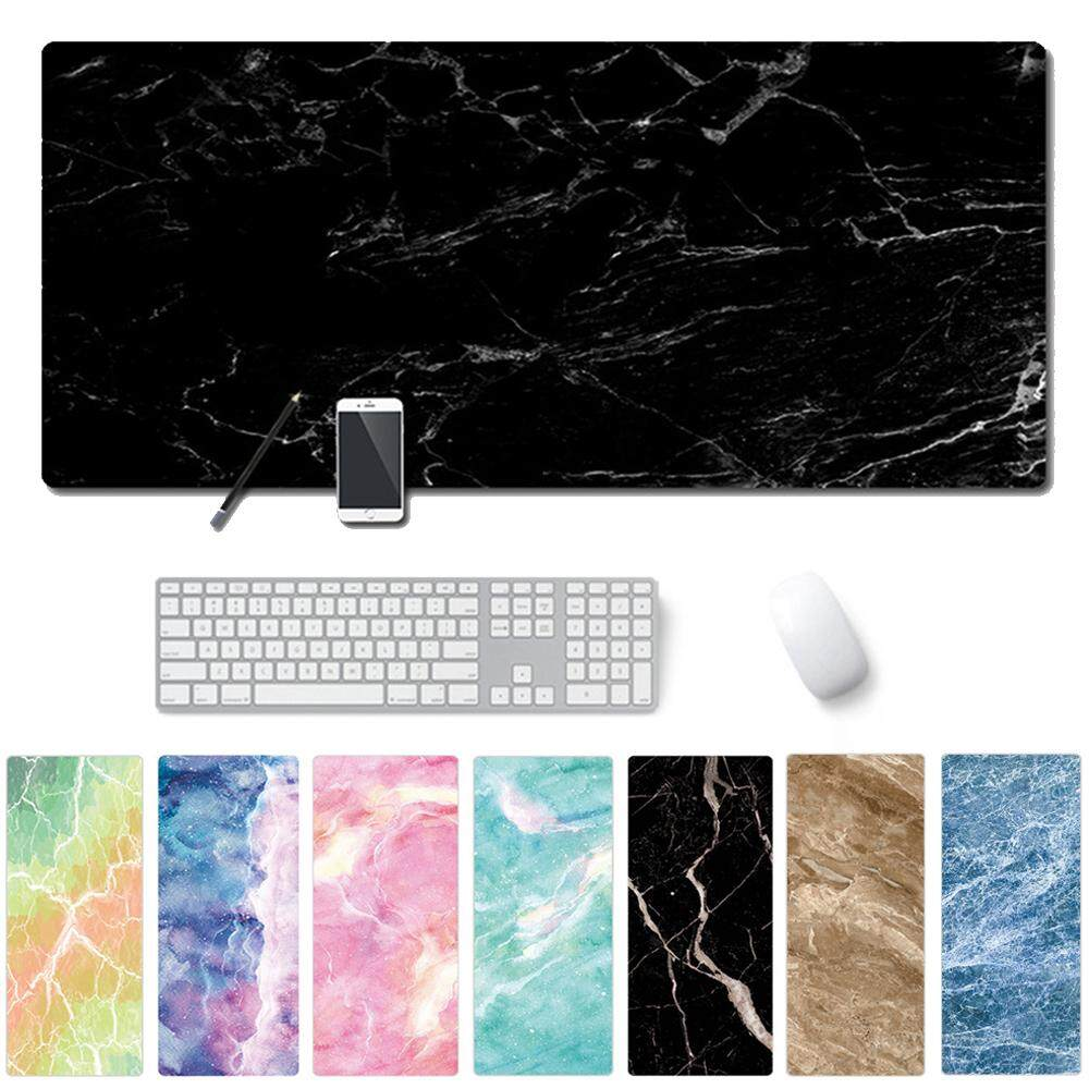 Large Gaming Marble Grain Rubber Desk Cushion Keyboard Mouse Pad Mice Mat Malaysia