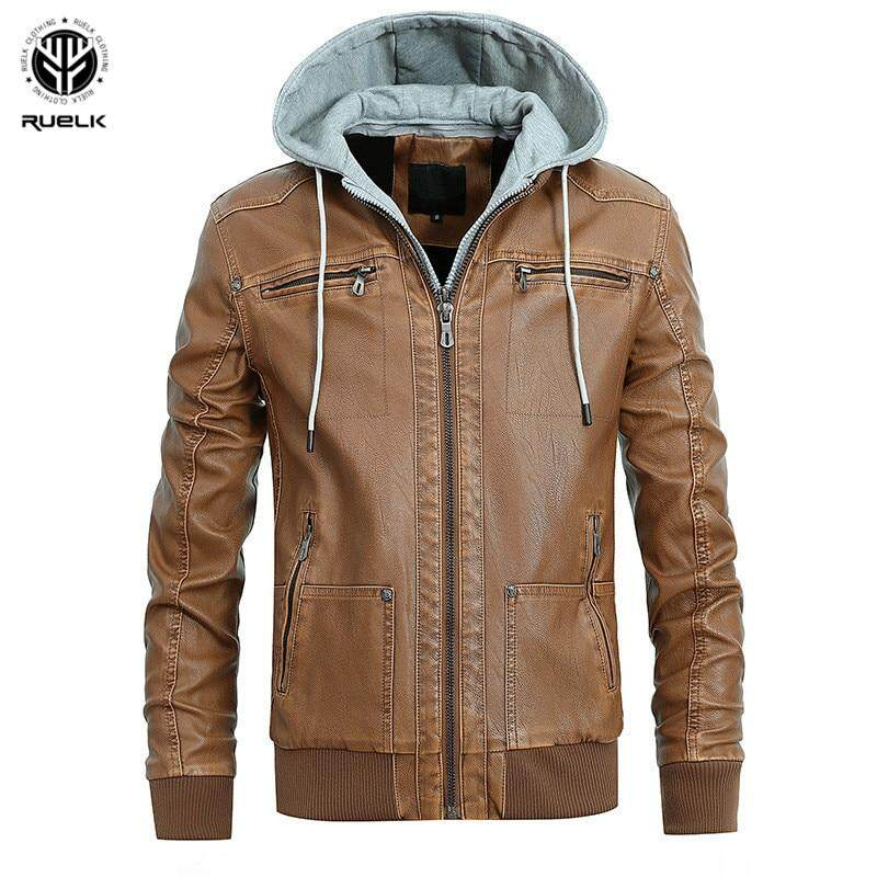 1021d2546 Mens PU Leather Jacket Winter Military Pilot Bomber Jackets Autumn Fashion  Outerwear Motorcycle Biker Leather Coat