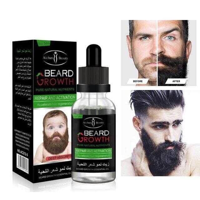 Aichun Beauty Mens Beard Growth Essential Oil 35ml By Ms Secret Cosmetic.