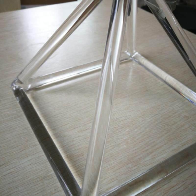 8 Inch Clear Quartz Crystal Singing Pyramid Musical Therapy Yoga Meditation Malaysia