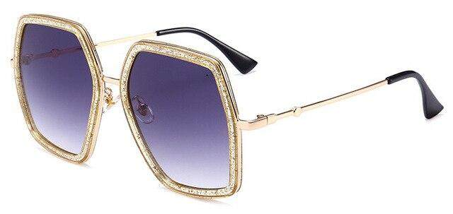 jaijryp 2018 New Hot Square Square Luxury Sunglasses Women Brand Double Colors Sun Glasses Female No Logo Men Shades Unisex UV400