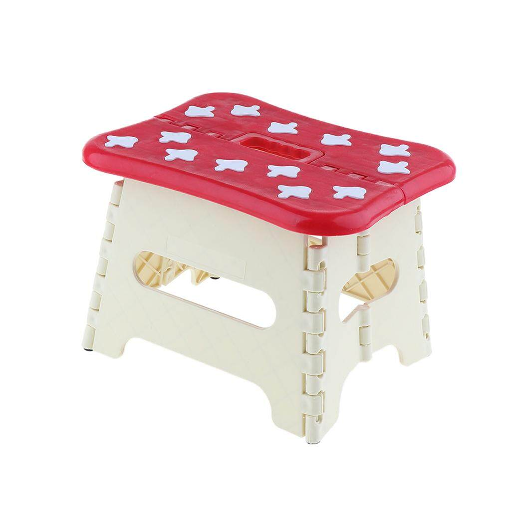 Loviver Super Strong Foldable Step Stool with Handle, Lightweight and Foldable Stools for kids, Toddlers and Adults, Fold Up Easily for Storage