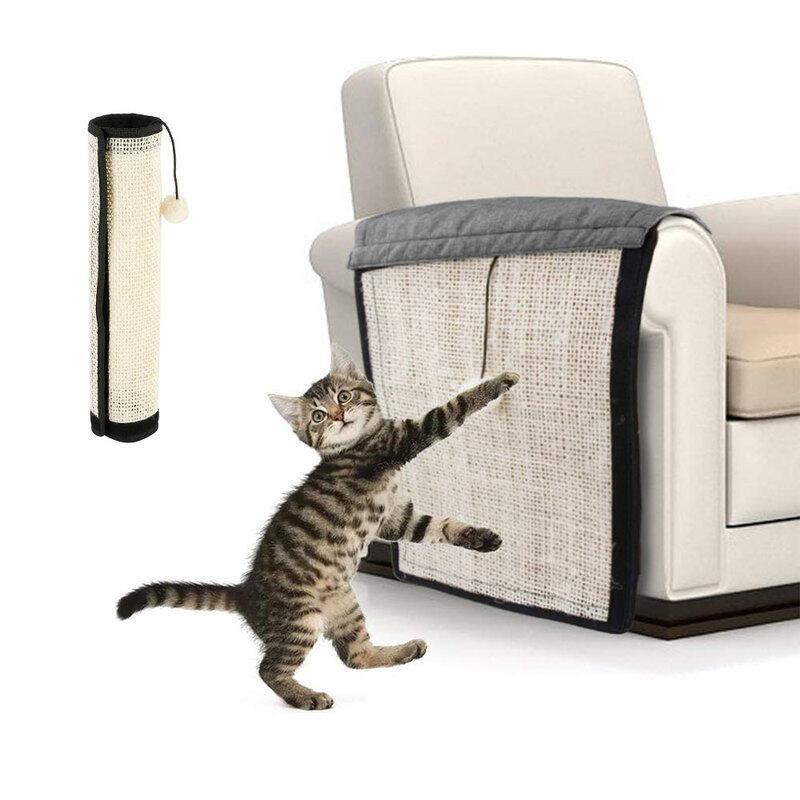 29*117Cm Vải Pet Cat Cào Mat Pad Cá Rô Cào Chơi Sofa Bảo Vệ Ghế Tự Dính