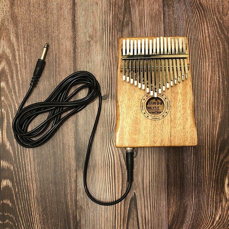 Cable 17 Key Kalimba African Solid Mahogany Thumb Finger Piano Sanza 17 Key Solid Wood Kalimba Mbira Thumb Free Shipping Kalimba Malaysia