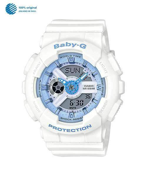 (2 Years Warranty) Original Casio Baby G_BA-110BE-7A Standard Analog Digital Ladies Watch Double World Time 200m Waterproof Shock-proof  LED Auto Light Watches BA-110/BA110 Malaysia