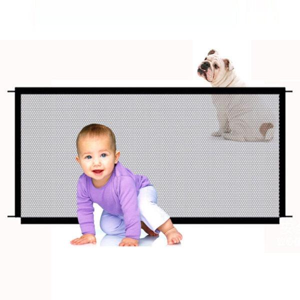 Cổng an toàn cho chó dành cho thú cưng Hàng rào lưới an toàn có thể di động gấp Cổng an toàn cho bé Cài đặt ở mọi nơi 180 * 72CM