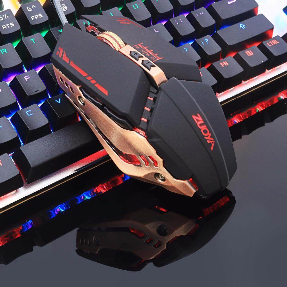 Professional gamer Gaming Mouse 8D 3200DPI Adjustable Wired Optical LED Computer Mice USB Cable Mouse for laptop PC[1 X mouse] Malaysia