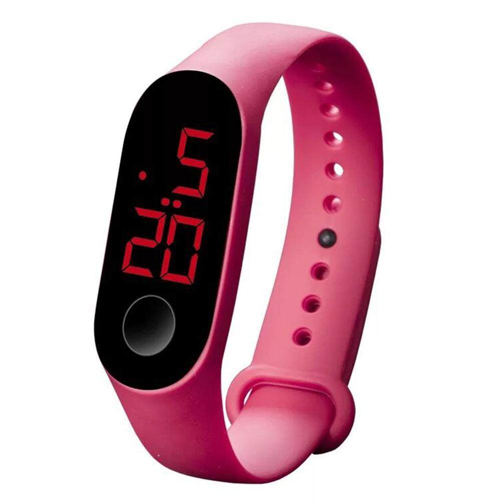 Bumblebaa Smart Waterproof Silicone Bracelet Sports Luminous Touch LED Childrens Electronic Watch Malaysia