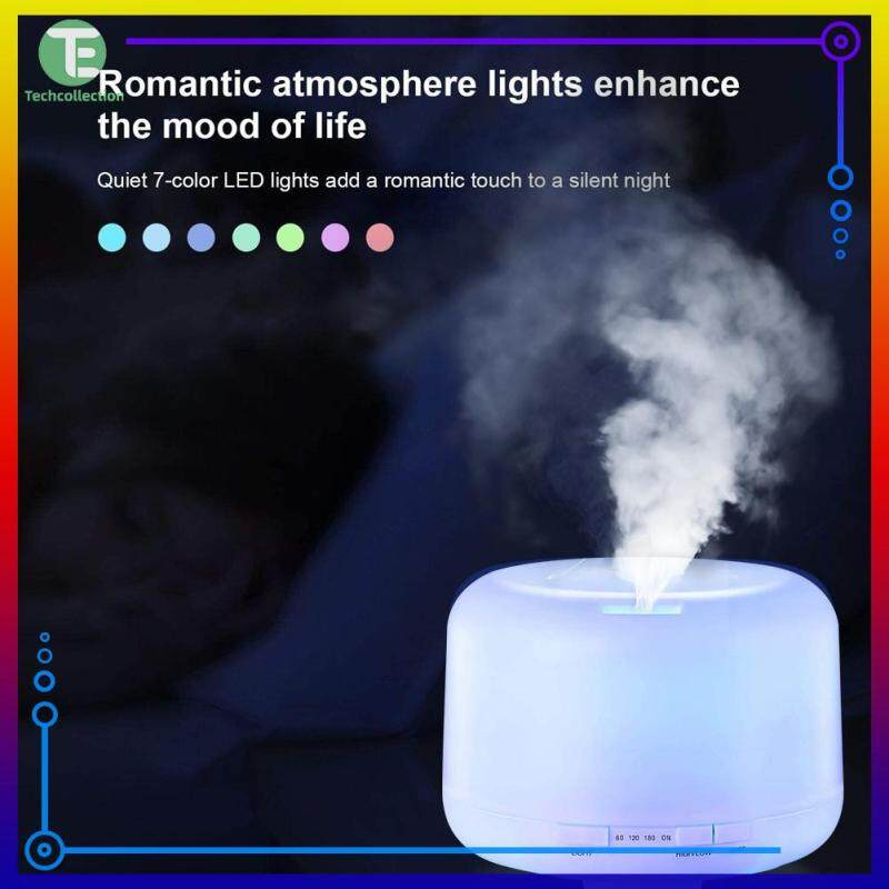 【Techcollection】500ml Ultrasonic Humidifier Colorful Light Aroma Diffuser Colorful Lamp with Remote Control Singapore