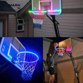 Đèn LED Năng Lượng Mặt Trời Vành Bóng Rổ MARV, Chơi Vào Ban Đêm Trang Trí Nhà Phòng Ngủ Bé Trai thumbnail