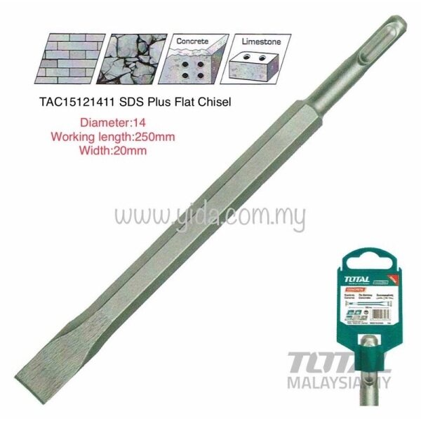 TOTAL TAC15121411 SDS Plus Flat Chisel