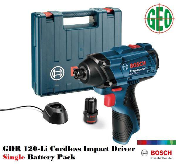 Bosch 12V GDR 120-LI Cordless Impact Driver Single Battery Pack with Charger
