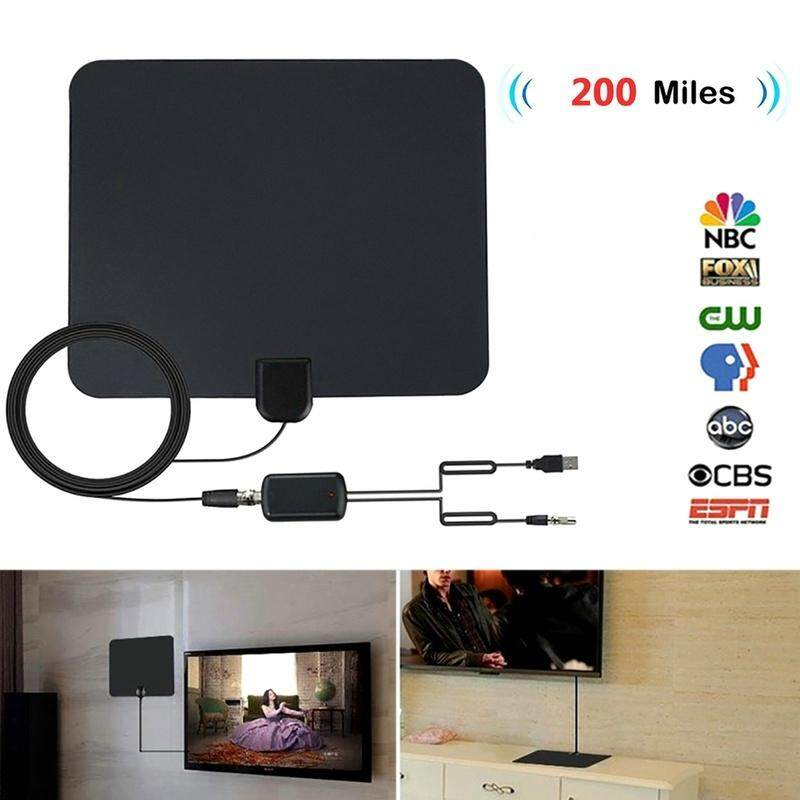 JTWEB Hot Sale TV Digital HD Skywire 4K Antena 200m Range Antenna Digital  Black HDTV