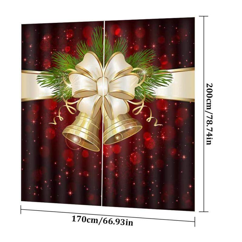 Xả Hàng! Trang Trí Giáng Sinh In Kỹ Thuật Số Rèm Cửa Dày Không Thấm Nước Rèm Phong Cách Giáng Sinh Rèm Phòng Khách Phòng Ngủ Rèm