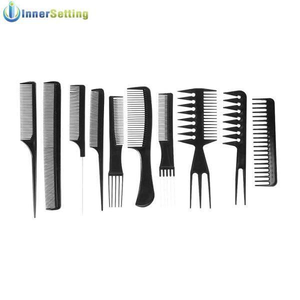 10 Cái Đen Pro Salon Tạo Kiểu Tóc Làm Tóc Nhựa Thợ Cắt Tóc Bàn Chải