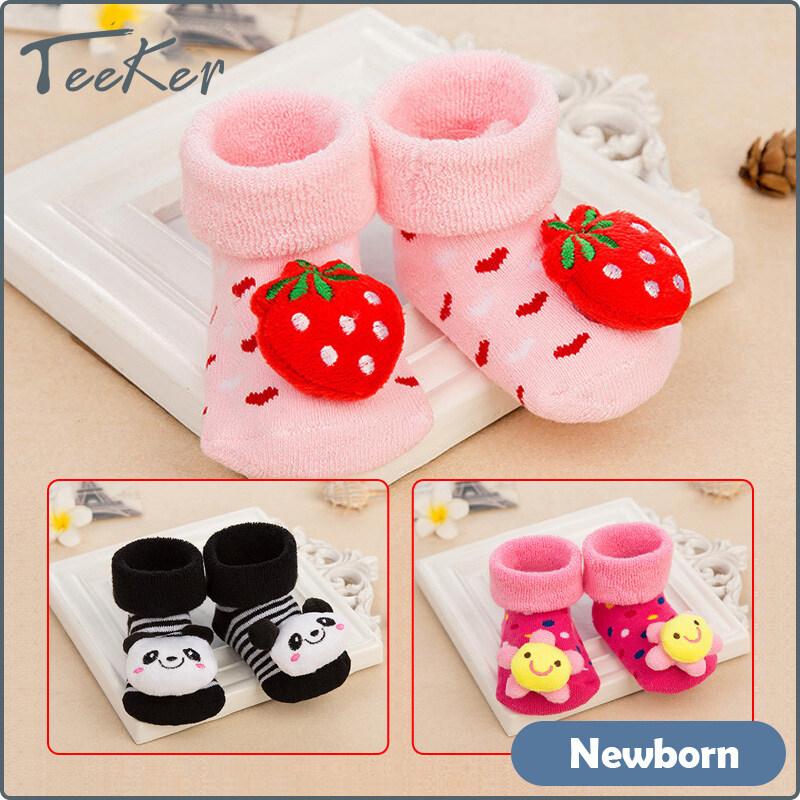 Teeker ถุงเท้าสำหรับเด็กแรกเกิด,ถุงเท้าสไตล์การ์ตูนน่ารักสำหรับเด็ก0-12เดือน