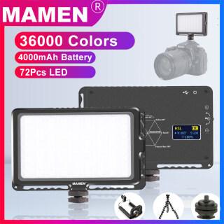 LED-72R MAMEN 4000MAh Camera LED RGB Fill Nhiếp Ảnh Ánh Sáng 1000K-9000K Có Thể Điều Chỉnh Độ Sáng 72 Chiếc Pin Sạc Li-ion Di Động Tích Hợp Trên Camera Photo Studio Ánh Sáng Lấp Đầy Màn Hình OLED Máy Ảnh DSLR thumbnail