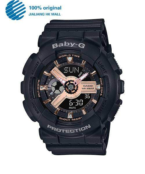 (Time-limited Special Price) Original Casio Baby G_BA-110RG-1A Womens Digital Watch (Black and Rose Gold) BA-110 / BA-110 Malaysia