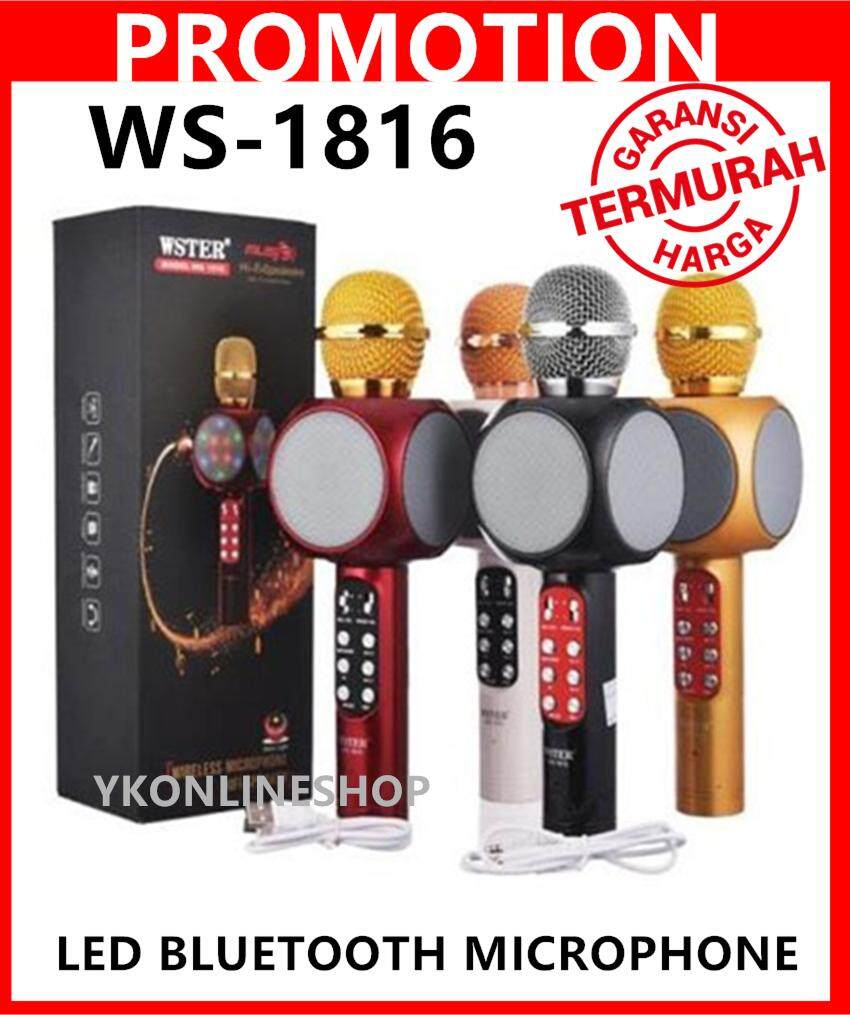 Wster Ws1816 Karaoke Ktv Mic Portable Bluetooth Speaker Microphone Ws-1816 Ws858 Ws878 By Yk Online Shop.