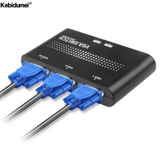 Kebidumei Bộ Chia Công Tắc VGA 2 Cổng, Bộ Chuyển Đổi Video VGA 2 Cách Hộp Chuyển Đổi Cho Phụ Kiện Màn Hình PC thumbnail