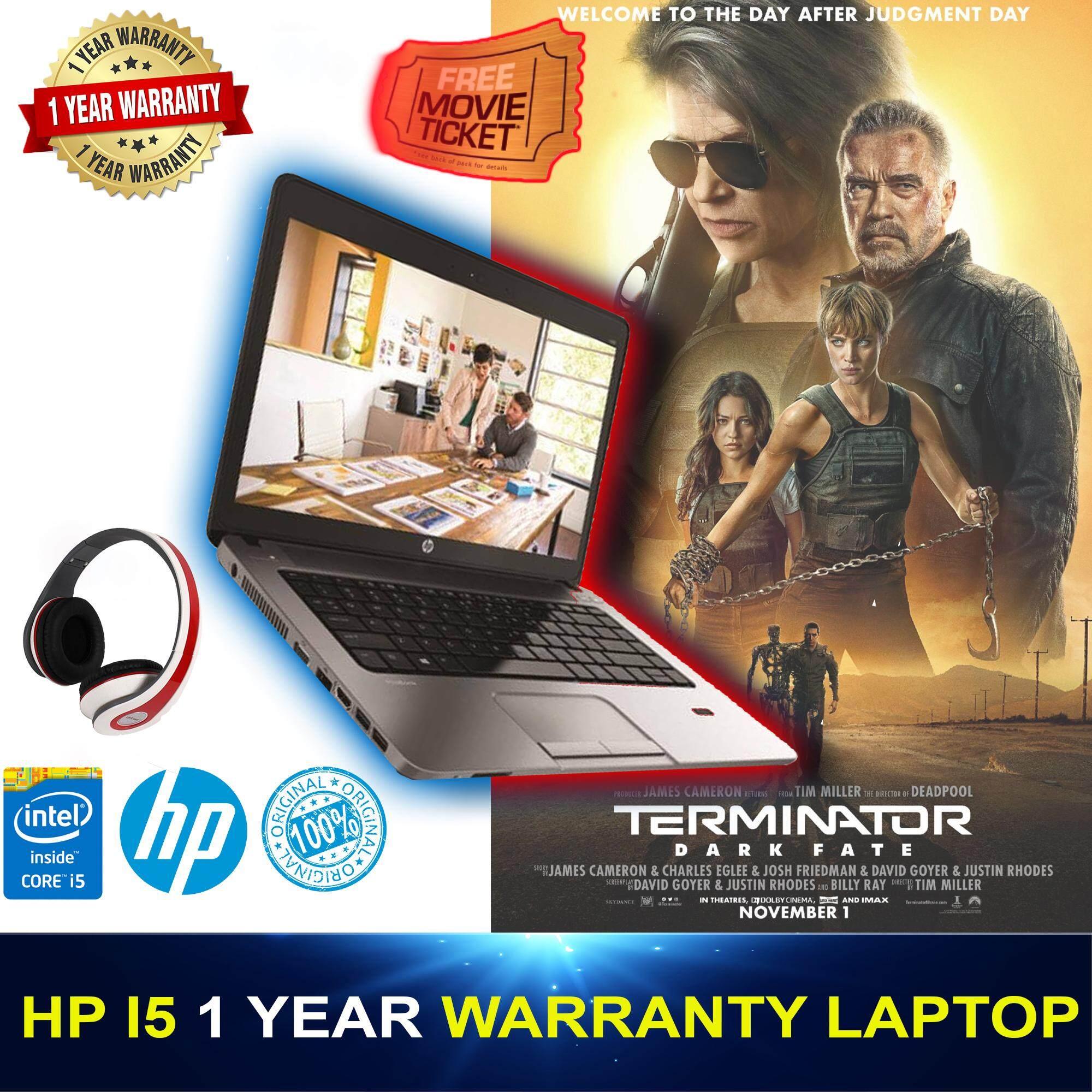 HP i5 4th Gen 1 Year Warranty Laptop - Free Headphone, Mouse, Bag, - 4GB RAM, 500GB HDD or 256 SSD , WebCam, Wifi, Bluetooth, Hp 100% Original Laptop refurbished (Launch Promotion) Malaysia