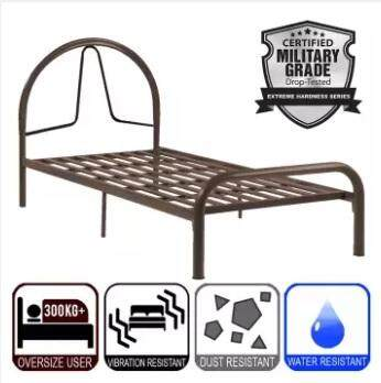 Single Size Super Base Metal Bed / Single Bedframe / Katil Besi - Shock Proof By Decowood.