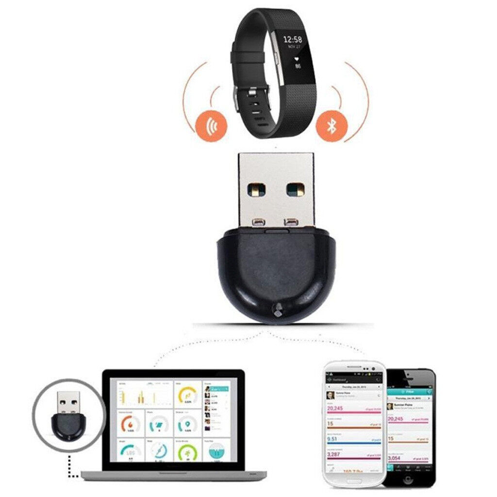 Replacement USB Bluetooth Receiver Wireless Sync Dongle for Fitbit ionic/charge
