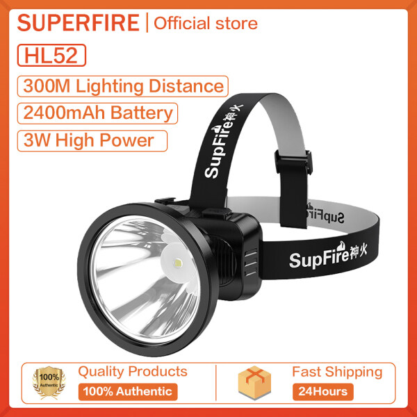 Supfire HL51 LED 4 Modes Head Lamp Waterproof Super Bright HL52 Work Light Best for Camping Fishing USB Rechargeable Headlamp