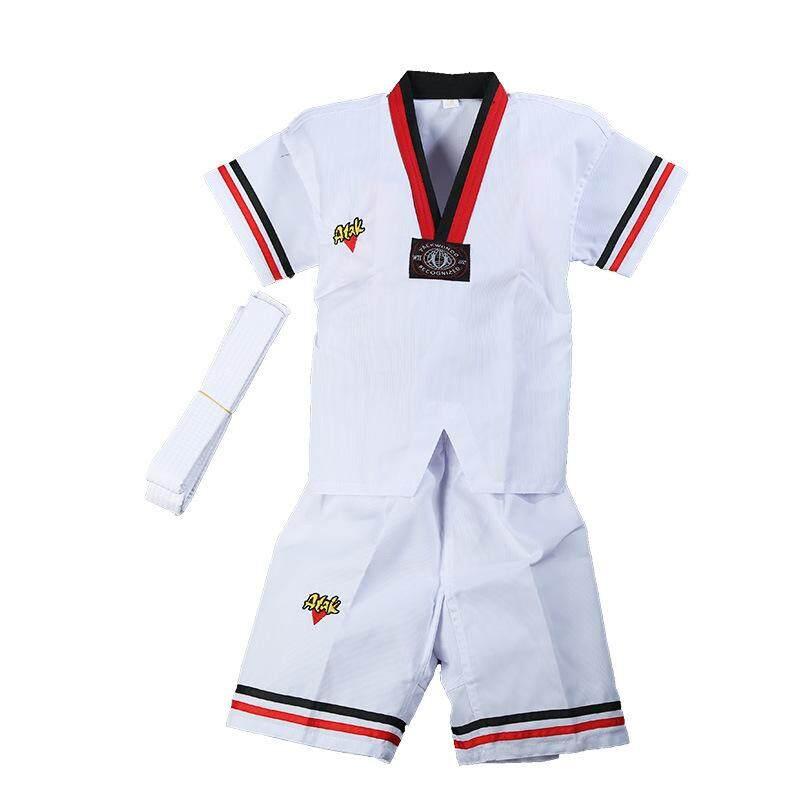 Deal Khuyến Mại Trẻ Em Người Lớn Taekwondo Đồng Phục Quần Áo Cotton Polyester Thể Dục Đội Taekwondo Đào Tạo Phù Hợp Với Karate Nam Nữ