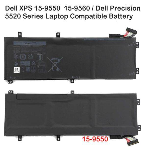 Dell  XPS  15-9550  15-9560 /15 9550  15 9560  05041C  5041C  H5H20  56WHR 62MJV  3 Cells  56Wh  11.4V  4865mAH  Notebook/ Laptop Compatible Battery Malaysia