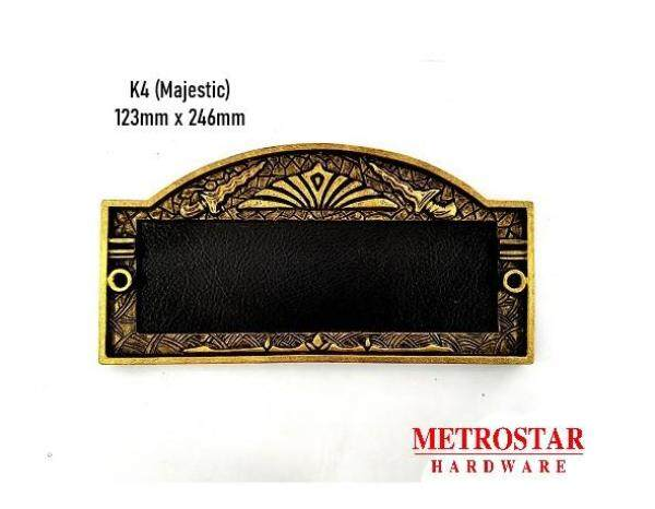 House Number Plate K4 - Majestic