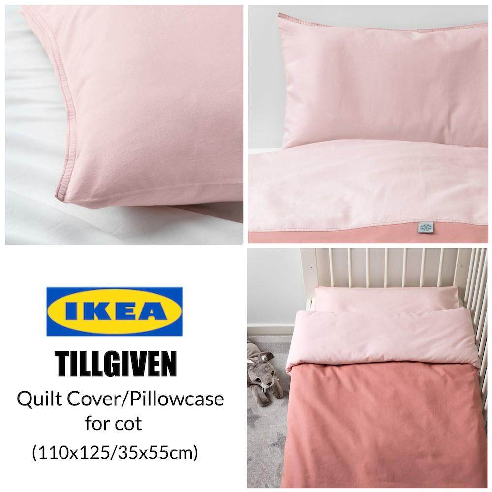 Ikea Tillgiven Quilt Cover And Pillowcase For Cot, Pink By Ikea Runner My.