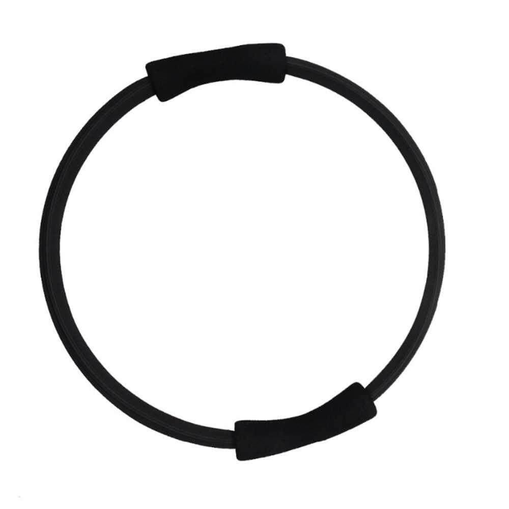 Sport Fitness Yoga Magic Circle Pilates Resistance Ring Circle for Women Fitness Exercise (black)
